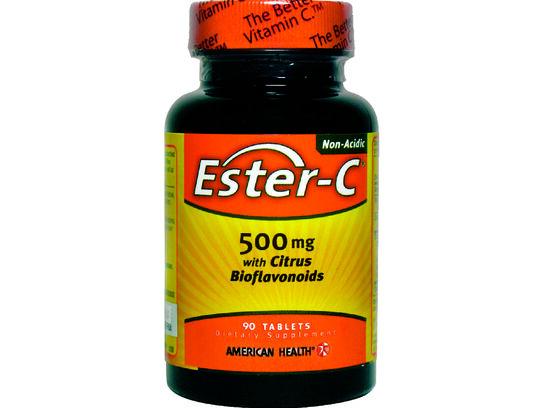 Ester C 500mg with Citrus Bioflavonoids 90 tablets (front bottle)