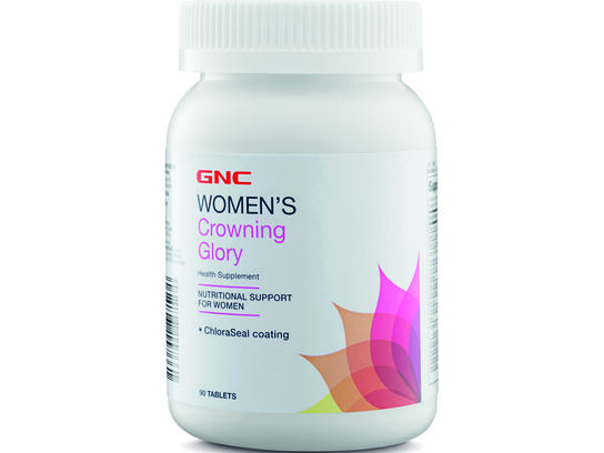 GNC Women's Crowning Glory 90 tablets (front bottle)